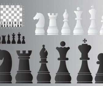 Vector Chess Board And Pieces Vector Art