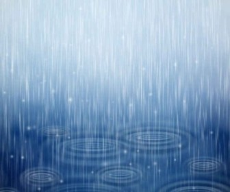 Vector Rain Background Vector Art