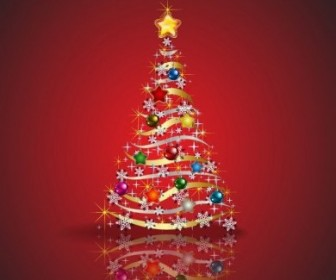 Vector Tree Graphic Christmas Vector Graphics