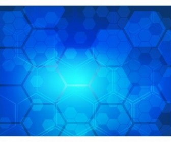 Vector Abstract Blue Technical Background Vector Art