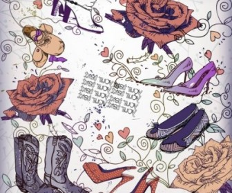 Vector Shoes Fashion Illustrator 04 Vector Art