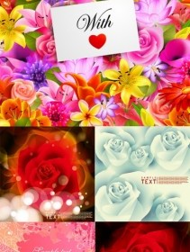 Vector Flowers Card Background Flower Vector Art