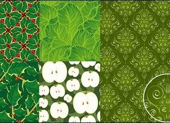 Vector Green Background Material Flower Vector Art