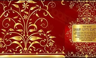 Vector Gorgeous Gold Lace Pattern Flower Vector Art