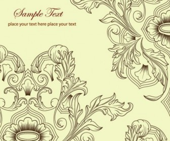 Vector Classic Retro Floral Background Vector Art