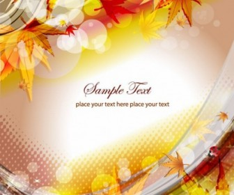 Vector Autumn Floral Illustration Background Vector Art
