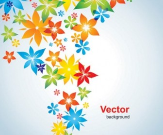 Vector Colorful Small Flowers Background Flower Vector Art