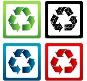 Vector Set Of Recycle Symbols Vector Art