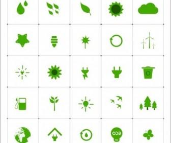 Vector Eco Icon Set Vector Clip Art