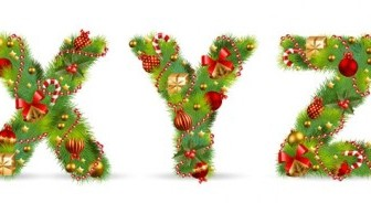 Vector Ornaments Composed Of Letters 05 Christmas Vector Graphics