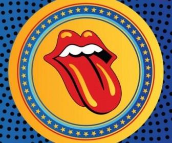 Vector Rolling Stones Lips Logo Vector Art