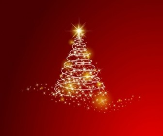 Vector Christmas Tree Background Vector Art