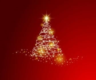 Vector Christmas Tree Background Vector Art
