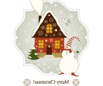 Vector Beautiful Greeting Card 04 Christmas Vector Graphics
