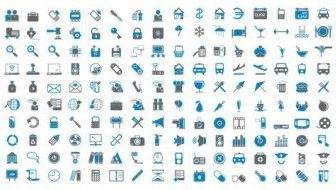 Vector Bluegray Simple Icon Vector Graphics