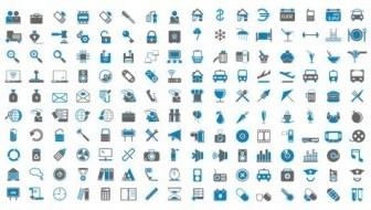 Vector Bluegray Simple Icon Vector Graphics