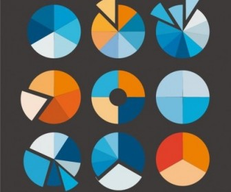 Vector Pie Chart Set Vector Art
