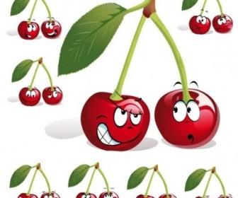 Vector Fruit Expression 05 Cartoon Vector Art