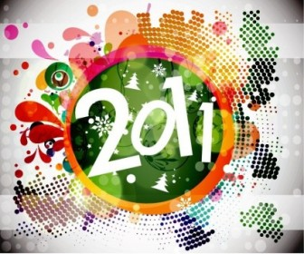 Vector 2011 New Year Backgound Graphic Floral Vector Art