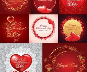Vector Romantic Love Cards Heart Vector Art