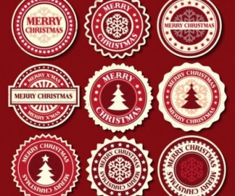 Vector Christmas Snowflake Label 02 Pattern Vector Art