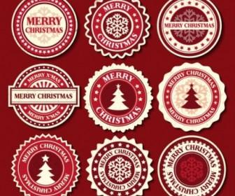 Vector Christmas Snowflake Label 02 Pattern Vector Art