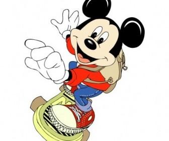 Vector Mickey Mouse 37 Logo Vector Art