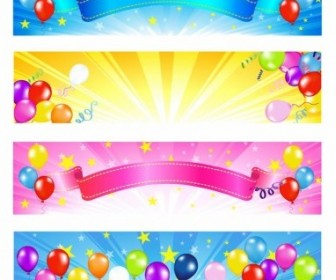 Vector Balloon Banners Vector Banner