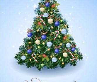 Vector Illustration Tree Christmas Vector Graphics
