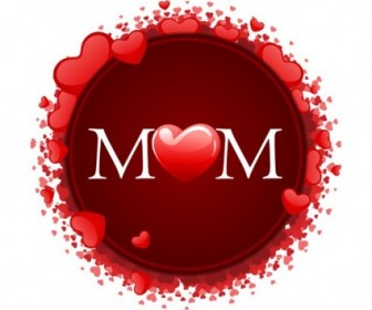 Vector Happy Mother's Day With Hearts Heart Vector Art