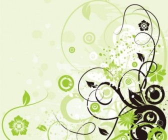 Vector Floral Swirl Background Graphic Abstract Vector Graphics