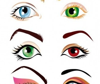 Vector Beautiful Eyes Vector Art