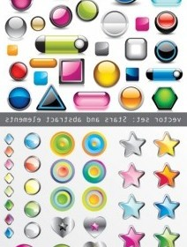 Vector All Kinds Crystal Texture Of Threedimensional Icons Icon Vector Graphics