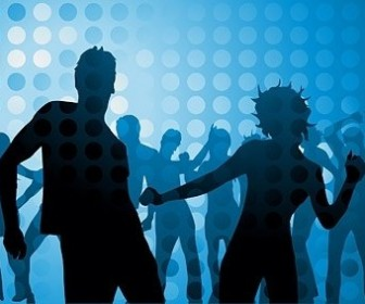 Vector Disco Dancing Silhouette Character Silhouettes Vector Graphics
