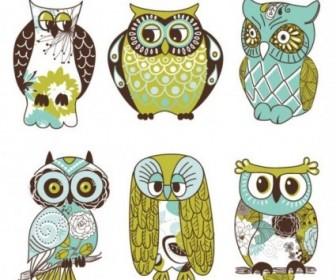 Vector The Owl Illustrator Cartoon Vector Art