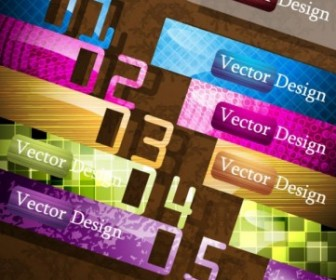 Vector Creative Label Design 02 Vector Art