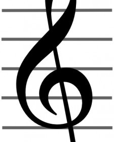 Vector Treble Clef Vector Clip Art