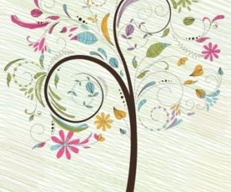 Vector Colorful Tree Illustration Vector Art