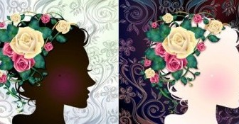 Vector Woman With Flowers 1 Flower Vector Art