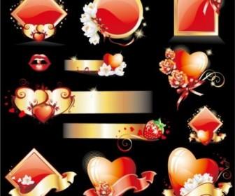 Vector Glittering Love Element Heart Vector Art