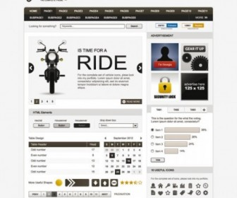 Vector Simple Page Template Board 01 Web Design Vector Graphics