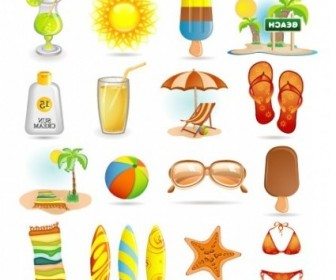 Vector Summer Icons Icon Vector Graphics