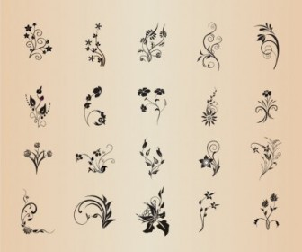 Vector Element Set Garaphic Floral Vector Art