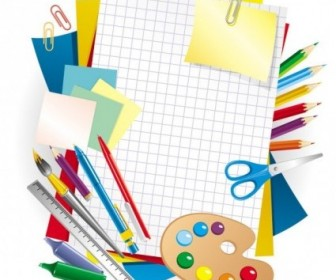 Vector Learning Stationery 01 Vector Art