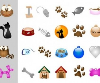 Vector Cats And Dogs Theme Vector Art