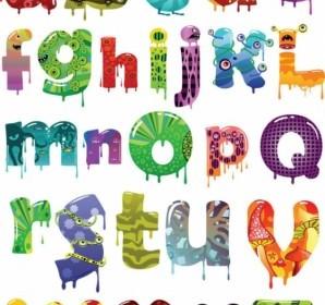 Vector Alphabet Cartoon Vector Art