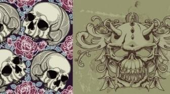 Vector Trend Skull Theme Vector Art