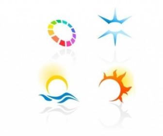 Vector Abstract Colorful Logotypes 2 Logo Vector Art