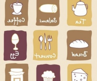 Vector Breakfast Lovely Icon Vector Graphics