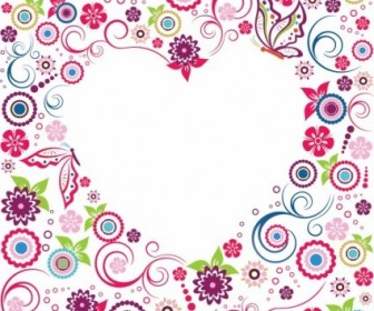 Vector Valentine Flowers Frame Flower Vector Art
